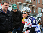 Jens Debusschere (Lotto Belisol) makes his way to the start of the 56th edition of the E3 Harelbeke, Belgium, 22nd  March 2013 (Photo by Eoin Clarke 2013)