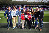 Matchball sponsors with Lee Trundle prior to the Premier League match between Swansea City and West Bromwich Albion at The Liberty Stadium, Swansea, Wales, UK. Sunday 21 May 2017