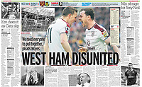 Sunday People 11-Mar-2018 - 'WEST HAM DISUNITED' - Photo by Rob Newell (Camerasport via Getty Images)