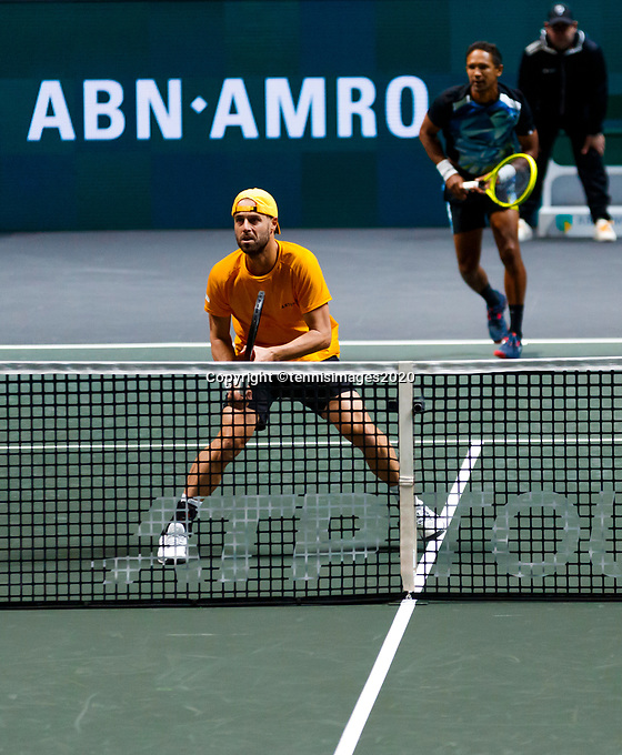 Rotterdam, The Netherlands, 15 Februari 2020, ABNAMRO World Tennis Tournament, Ahoy, <br /> Dooubles: Raven Klaasen (RSA) and Oliver Marach (AUT). <br /> Photo: www.tennisimages.com