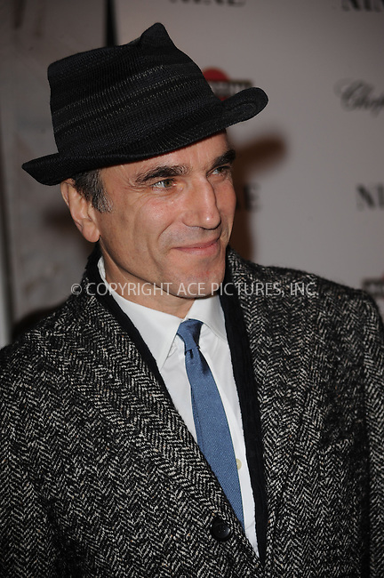 WWW.ACEPIXS.COM . . . . . ....December 15 2009,  New York City....Daniel Day Lewis arriving at the New York premiere of 'Nine' at the Ziegfeld Theatre on December 15 2009 in New York City....Please byline: KRISTIN CALLAHAN - ACEPIXS.COM.. . . . . . ..Ace Pictures, Inc:  ..(212) 243-8787 or (646) 679 0430..e-mail: picturedesk@acepixs.com..web: http://www.acepixs.com