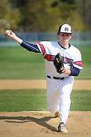 SGHOST22P<br /> Holy Ghost pitcher Peyton Birch throws a pitch against Devon Prep in the first inning Thursday April 21, 2016 at Holy Ghost Prep in Bensalem, Pennsylvania. (William Thomas Cain/For The Inquirer)