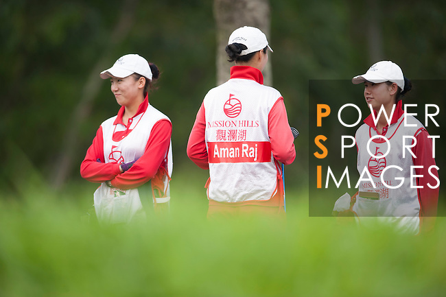 Players in action during the 9th Faldo Series Asia Grand Final 2014 golf tournament on March 19, 2015 at Mission Hills Golf Club in Shenzhen, China. Photo by Xaume Olleros / Power Sport Images