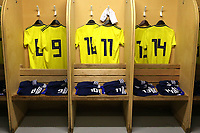 The Scotland shirts on display in the dressing room ahead of kick-off during South Korea Under-21 vs Scotland Under-21, Tournoi Maurice Revello Football at Stade Parsemain on 2nd June 2018