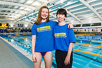 Picture by Rogan Thomson/SWpix.com - 08/12/2017 - Swimming - Team Bath Karen Bowen Feature -  Bath University, Bath, England - Team Bath AS swimmer Rhiannon Bowen with Mum and club volunteer Karen.