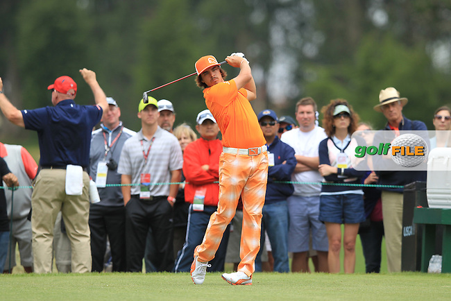 Rickie Fowler (USA) tees off the 6th tee during Sunday's Final Round of the 112th US Open Championship at The Olympic Club, San Francisco,  California, 17th June 2012 (Photo Eoin Clarke/www.golffile.ie)