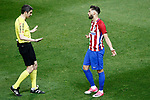 Atletico de Madrid's Yannick Ferreira Carrasco have words with the referee Alberto Undiano Mallenco during La Liga match. April 4,2017. (ALTERPHOTOS/Acero)