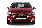 Car photography straight front view of a 2014 Peugeot 208 GTI 3 Door Hatchback 2WD Front View