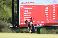 Darren Fichardt (RSA) chips onto the 15th green during Sunday's Final Round of the 2017 Omega European Masters held at Golf Club Crans-Sur-Sierre, Crans Montana, Switzerland. 10th September 2017.<br /> Picture: Eoin Clarke | Golffile<br /> <br /> <br /> All photos usage must carry mandatory copyright credit (&copy; Golffile | Eoin Clarke)
