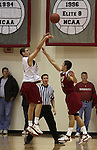 Klay Thompson (#1) shoots over the outstretched hand of teammate Michael Harthun during a Washington State University team scrimmage at Bohler Gymnasium on the WSU campus on November 8, 2008.