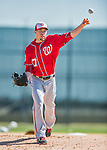 25 February 2016: Washington Nationals pitcher Sean Burnett throws during the first full squad Spring Training workout at Space Coast Stadium in Viera, Florida. Mandatory Credit: Ed Wolfstein Photo *** RAW (NEF) Image File Available ***