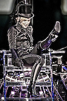 Photo Illustration of a photograph of Madonna taken in concert 2006