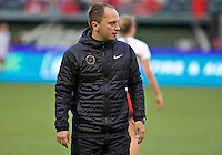 Portland, Oregon - Saturday July 9, 2016: Portland Thorns FC head coach Mark Parsons during a regular season National Women's Soccer League (NWSL) match at Providence Park.