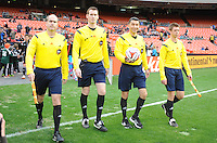 Washington, D.C.- March 29, 2014. MLS Referees.  D.C. United defeated the New England Revolution 2-0 during a Major League Soccer Match for the 2014 season at RFK Stadium.