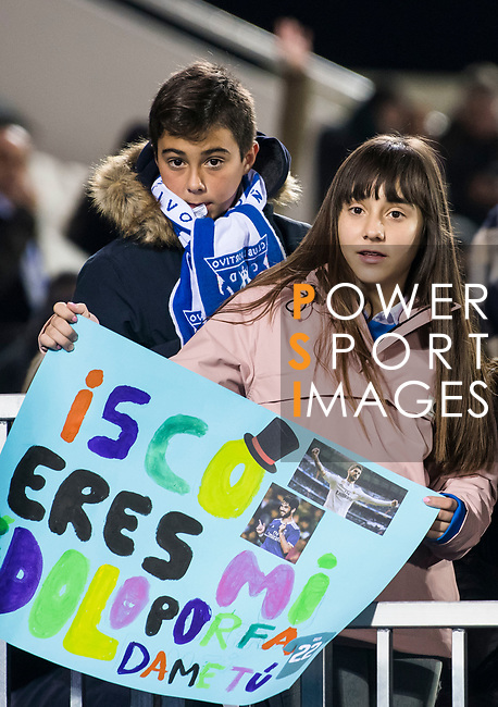 Little soccer fans of Isco Alarcon of Real Madrid show their supports prior to the Copa del Rey 2017-18 match between CD Leganes and Real Madrid at Estadio Municipal Butarque on 18 January 2018 in Leganes, Spain. Photo by Diego Gonzalez / Power Sport Images
