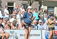 KAATSEN: WEIDUM: 23-08-2016, Kaatsen Dames PC, winnaars Sjoukje Visse, Ilse Tuinenga (Koningin) aan de opslag, Manon Scheepstra, Sjoukje Visser, ©foto Martin de Jong
