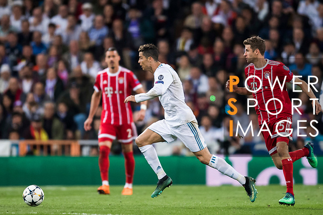 Cristiano Ronaldo of Real Madrid in action during the UEFA Champions League Semi-final 2nd leg match between Real Madrid and Bayern Munich at the Estadio Santiago Bernabeu on May 01 2018 in Madrid, Spain. Photo by Diego Souto / Power Sport Images