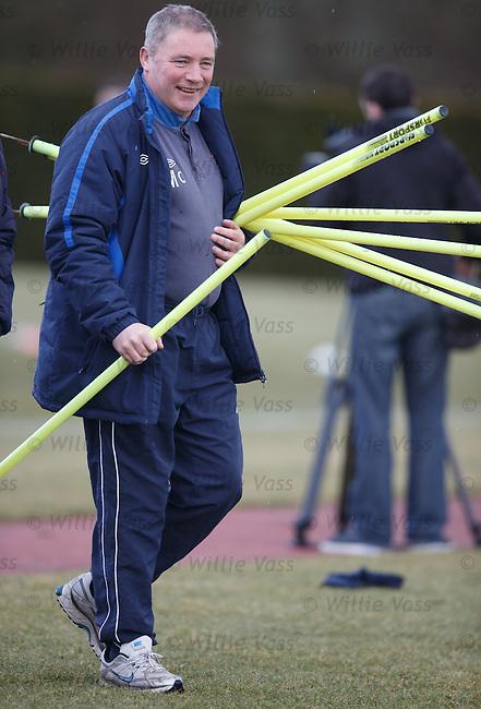 Ally McCoist with poles