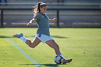 STANFORD, CA - OCTOBER 12: Carly Malatskey #6 of the Stanford Cardinal warms up before a game between the Stanford Cardinal and Washington Huskies women's soccer teams at Cagan Stadium on October 6, 2019 in Stanford, California. during a game between University of Washington and Stanford Soccer W at Laird Q. Cagan Stadium on October 12, 2019 in Stanford, California.