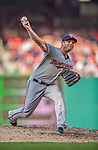 8 June 2013: Minnesota Twins pitcher Casey Fien on the mound against the Washington Nationals at Nationals Park in Washington, DC. The Twins edged out the Nationals 4-3 in 11 innings. Mandatory Credit: Ed Wolfstein Photo *** RAW (NEF) Image File Available ***