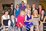 PRESENTS: Attending their pre christmas reception in Ballyroe Heights Hotel Tralee before they headed up to their christmas party on Saturday night were some of the staff members of Sam McCauley's Chemist, Manor Retail Park, Tralee. Front l-r: Madeline Kelly, Luke O'Shea, Christine Foley, Sinead Duffey, Amy O'Brien and Roisin Donnellan. back l-r: Siobhan O'Donnell, Paula O'Sullivan,Tim Sugrue, Aoife Sugrue, Rosie Lyne,and Fiona Reidy.