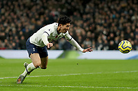 9th November 2019; Tottenham Hotspur Stadium, London, England; English Premier League Football, Tottenham Hotspur versus Sheffield United; Son Heung-Min of Tottenham Hotspur goes down appealing for a penalty - Strictly Editorial Use Only. No use with unauthorized audio, video, data, fixture lists, club/league logos or 'live' services. Online in-match use limited to 120 images, no video emulation. No use in betting, games or single club/league/player publications