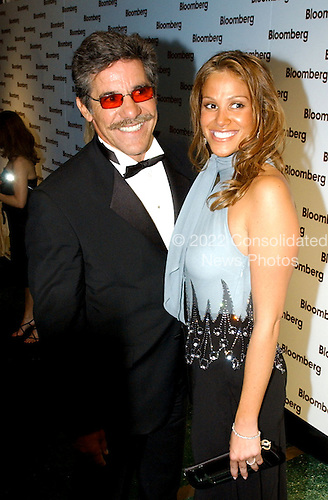Washington, DC - May 1, 2004 -- Geraldo Rivera and his wife arrive for the Bloomberg party following the 2004 White House Correspondents Association Dinner in Washington, D.C. on May 1, 2004..Credit: Ron Sachs / CNP.(RESTRICTION: No New York Metro or other Newspapers within a 75 mile radius of New York City)