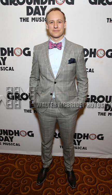 John Sanders attends the Broadway Opening Night After Party for 'Groundhog Day' at Gotham Hall on April 17, 2017 in New York City.