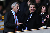 Millwall FC Chairman, John Berylson jokingly points the finger at Millwall FC Director, Constantine Gonticas during Millwall vs Brentford, Sky Bet EFL Championship Football at The Den on 10th March 2018