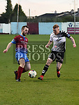 Drogheda United Colm Deasy Bohemians Lorcan Fitzgerald. Photo:Colin Bell/pressphotos.ie