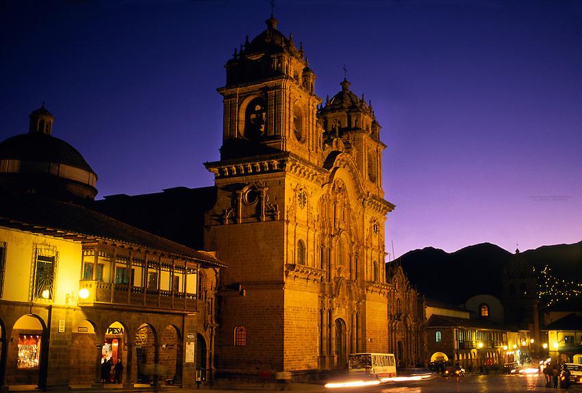 La Compania Church, Plaza de Armas, Cuzco, Peru
