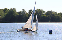 As temperatures hit 82F - the hottest day of the year so far - People go sailing on Priory Country Park lake as restrictions on forms of exercise are eased during the COVID 19 Lockdown. Priory Park, Bedford. May 20th 2020 <br /> <br /> Photo by Keith Mayhew