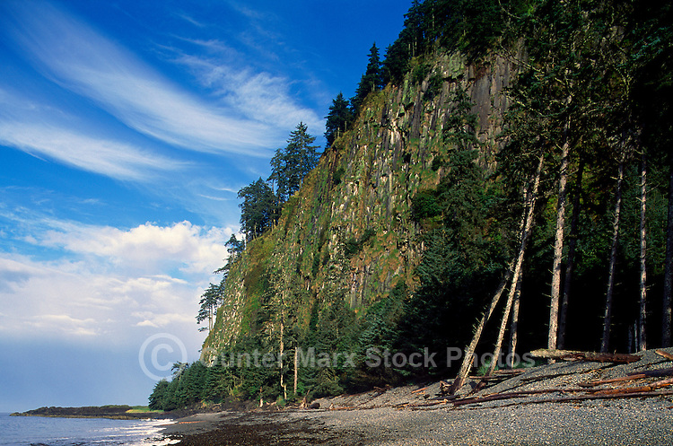 Haida Gwaii (Queen Charlotte Islands), Northern BC, British Columbia, Canada - Tow Hill at Agate Beach along McIntyre Bay, Naikoon Provincial Park, Graham Island