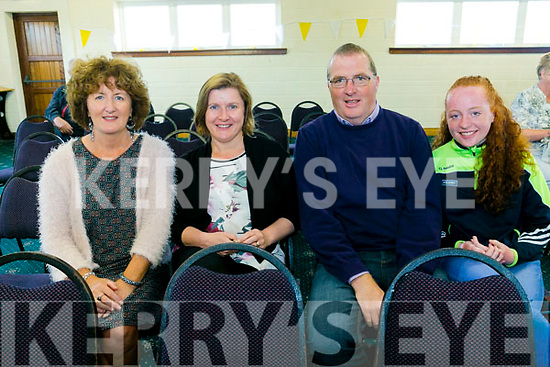 Bishop Ray Browne   celebrate a Centenary  Mass at the Austin Stack's Club in Connolly Park on  Tuesday. Pictured l-r Yvonne O'Brien, Elma Nix, Eamon Heaslip and Emily Heaslip