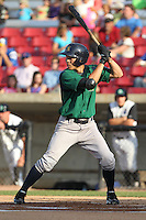Beloit Snappers outfielder Wang-Wei Lin #23 bats during a game against the Kane County Cougars at Fifth Third Bank Ballpark on June 26, 2012 in Geneva, Illinois. Beloit defeated Kane County 8-0. (Brace Hemmelgarn/Four Seam Images)