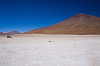 Laguna Blanca (White Lagoon) is a salt lake in the southwest of the altiplano of Bolivia, in the Department of Potosí, Province of Sud Lípez, on the Chilean border at the foot of the volcano Licancabur. It is elevated some 4,300 m (14,000 ft) above sea level.
