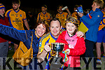 Beaufort Valarie Foley, Kevin O'Brien and Emma Foley celebrate after beating Dromtarriffe in the Munster Junior final in Mallow on Sunday