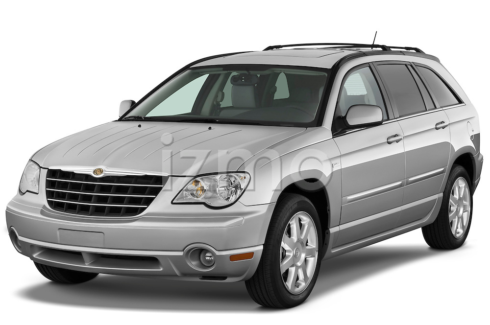 Front three quarter view of a 2009 Chrysler Pacifica Touring.