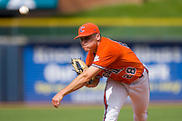 Starting pitcher Chris Dwyer #28 of the Clemson Tigers in action versus the Duke Blue Devils at Durham Bulls Athletic Park May 22, 2009 in Durham, North Carolina.  (Photo by Brian Westerholt / Four Seam Images)