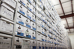 The City of Austin Police Department stores evidence, including rape kits, in a climate controlled warehouse in Austin, Texas.