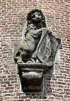 Leeuw op de Koornmarktspoort in Kampen