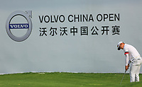 Xuewen Luo (CHN) in action during the third round of the Volvo China Open played at Topwin Golf and Country Club, Huairou, Beijing, China 26-29 April 2018.<br /> 28/04/2018.<br /> Picture: Golffile | Phil Inglis<br /> <br /> <br /> All photo usage must carry mandatory copyright credit (&copy; Golffile | Phil Inglis)