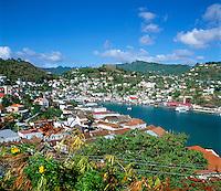 Karibik, Kleine Antillen, Grenada: Stadtansicht | Caribbean, Lesser Antilles, Grenada, St. Georges: view over town