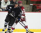 Brett Switzer (Bentley - 25), Ryan McGregor (Harvard - 20) - The Harvard University Crimson defeated the visiting Bentley University Falcons 3-0 on Saturday, October 26, 2013, in Harvard's season opener at Bright-Landry Hockey Center in Cambridge, Massachusetts.