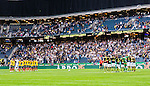 Solna 2015-07-26 Fotboll Allsvenskan AIK - IF Elfsborg :  <br /> Vy &ouml;ver Friends Arena under en tyst minut f&ouml;r avlidne Robert Broberg inf&ouml;r matchen mellan AIK och IF Elfsborg <br /> (Foto: Kenta J&ouml;nsson) Nyckelord:  AIK Gnaget Friends Arena Allsvenskan Elfsborg IFE sorg inomhus interi&ouml;r interior depp besviken besvikelse sorg ledsen deppig nedst&auml;md uppgiven sad disappointment disappointed dejected