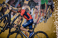 Vicenzo Nibali (ITA/Bahrain Merida) riding in the Team Presentation Podium. <br /> <br /> Le Grand D&eacute;part 2018<br /> 105th Tour de France 2018<br /> &copy;Kramon
