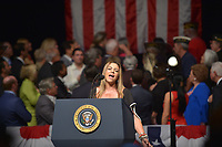 MIAMI, FL - JUNE 16: Rep. Guest speaks ahead of U.S. President Donald Trump announcing policy changes he is making toward Cuba at the Manuel Artime Theater in the Little Havana neighborhood on June 16, 2017 in Miami, Florida. The President will re-institute some of the restrictions on travel to Cuba and U.S. business dealings with entities tied to the Cuban military and intelligence services. Credit: MPI10 / MediaPunch