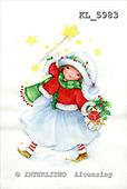 Interlitho, CHRISTMAS CHILDREN, paintings+++++,girl,stars,gifts,KL5983,#xk#