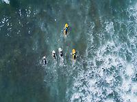 Sopelana Beach, Basque Country, Spain. Aerial drone photo