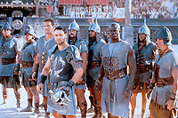 Gladiator (2000)<br /> Russell Crowe, Djimon Hounsou &amp; Ralf Moeller<br /> *Filmstill - Editorial Use Only*<br /> CAP/KFS<br /> Image supplied by Capital Pictures